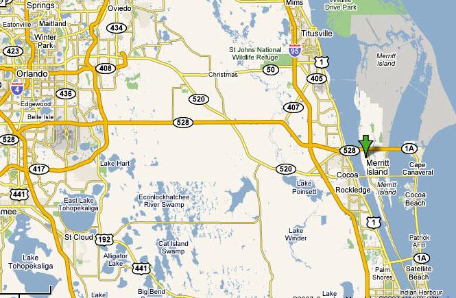 Merritt Island Florida Map